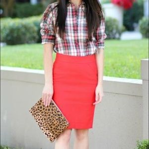 J. Crew | The Pencil Skirt in Red Size 2P